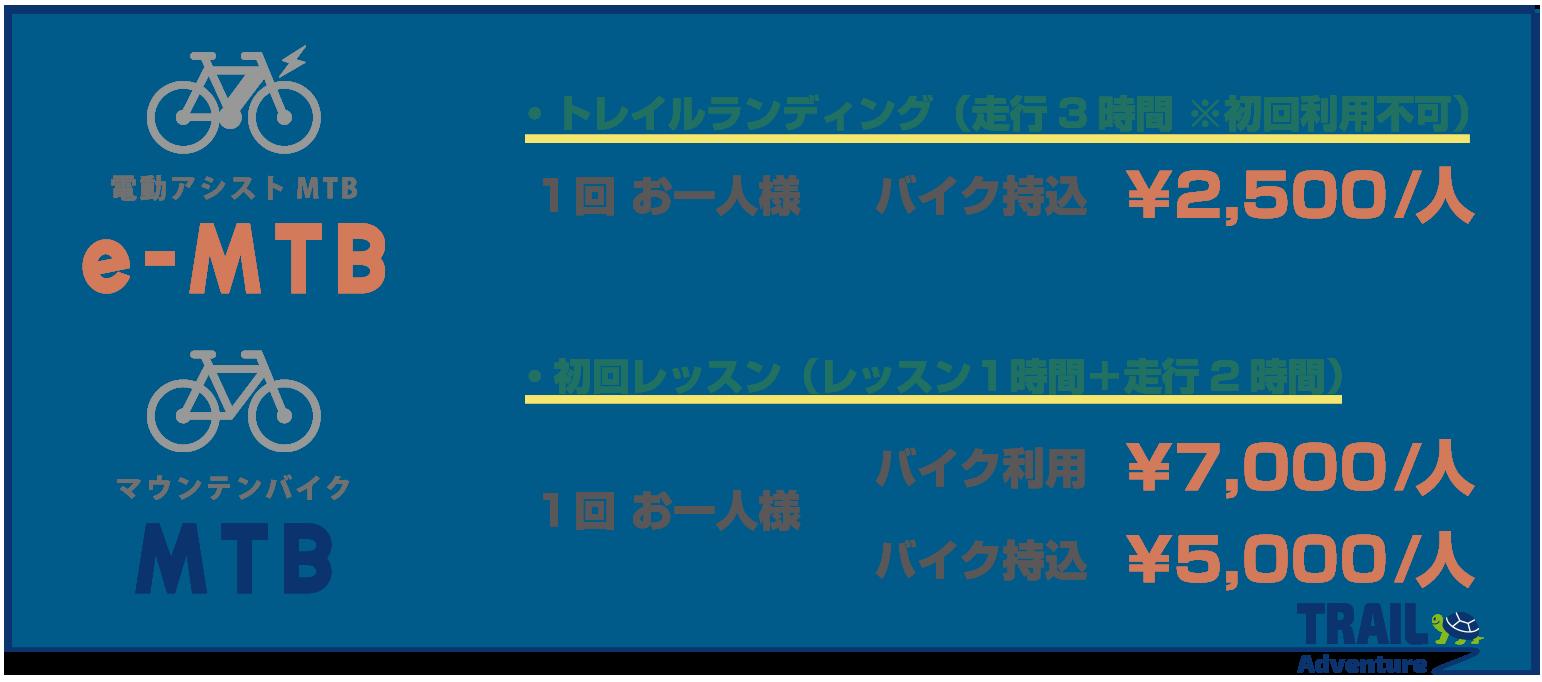e-BIKE 対象年齢15歳〜 1人500円